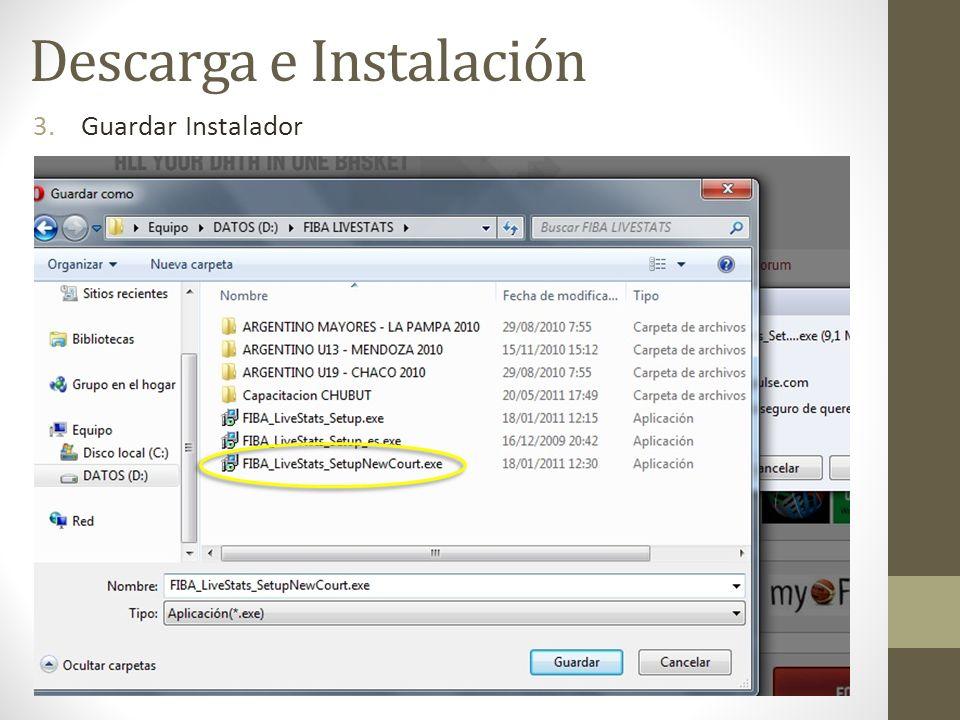 3.Guardar Instalador Descarga e Instalación
