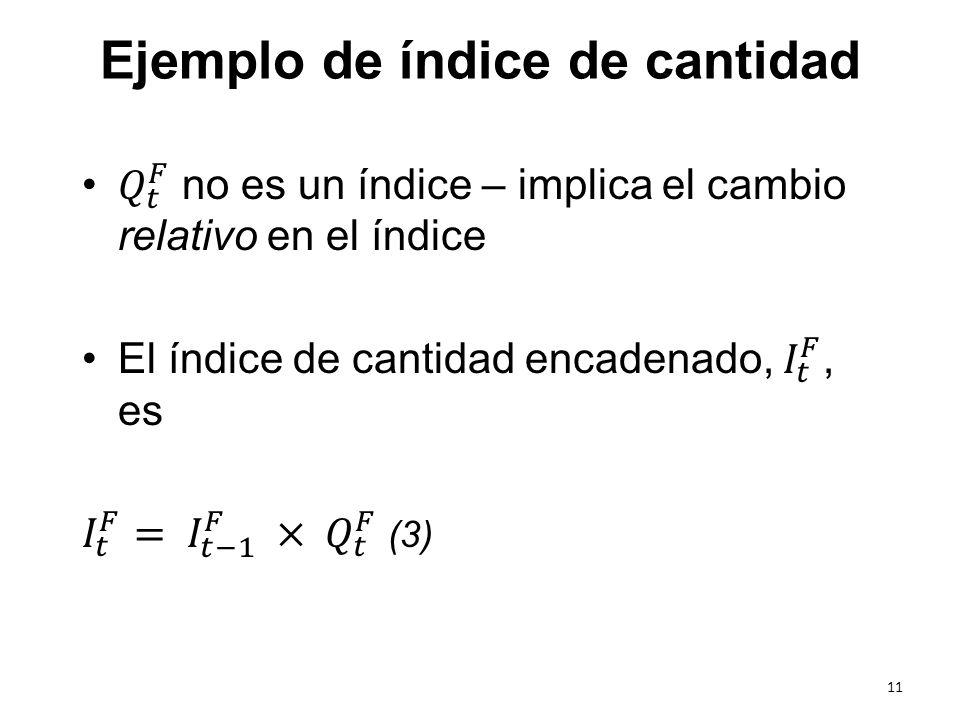 Ejemplo de índice de cantidad 11