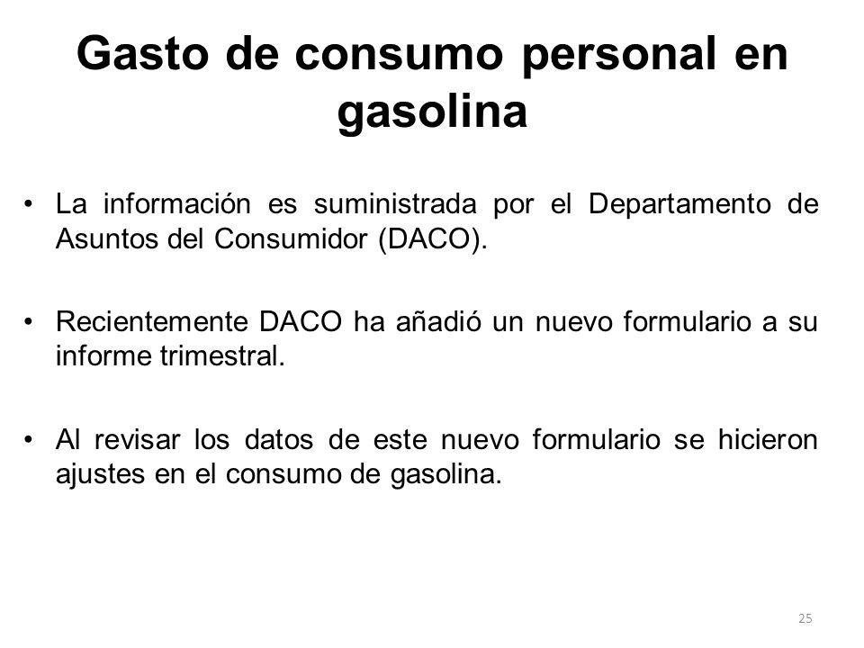 La información es suministrada por el Departamento de Asuntos del Consumidor (DACO). Recientemente DACO ha añadió un nuevo formulario a su informe tri