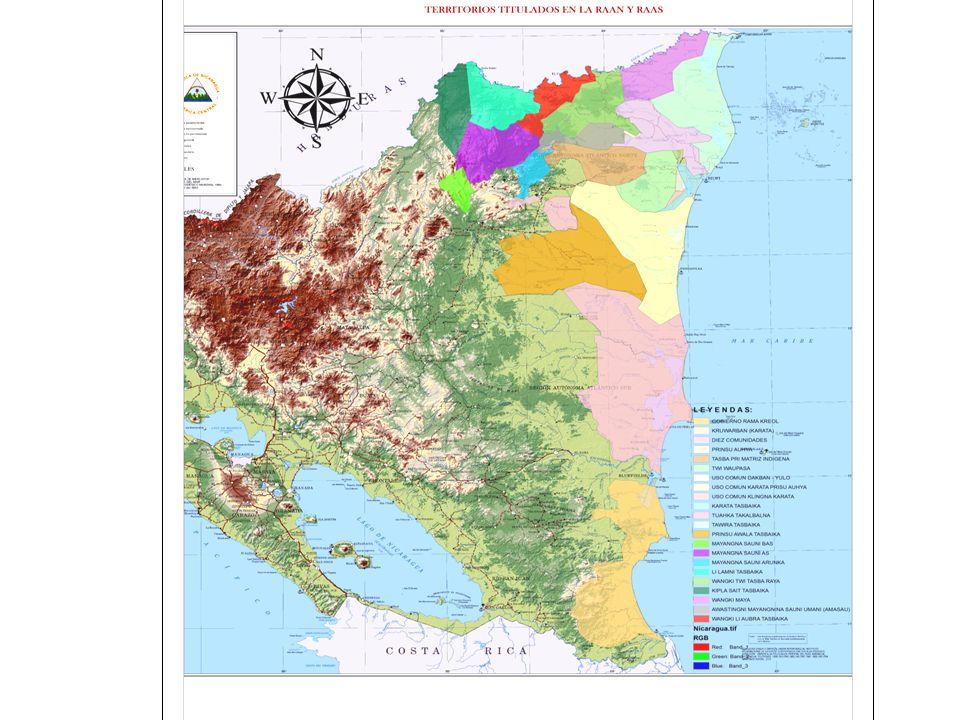 Logros Según el Informe ejecutivo de la CONADETI y las CIDTS al 21 de abril del año 2013, se han titulado 21 territorios: - 16 en la RAAN, - 3 en la RAAS y - 2 en la Zona de Régimen Especial.