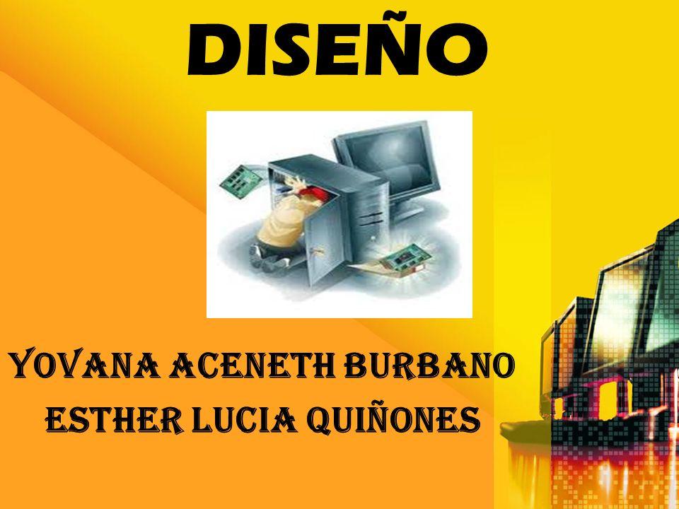 DISEÑO YOVANA ACENETH BURBANO ESTHER LUCIA QUIÑONES