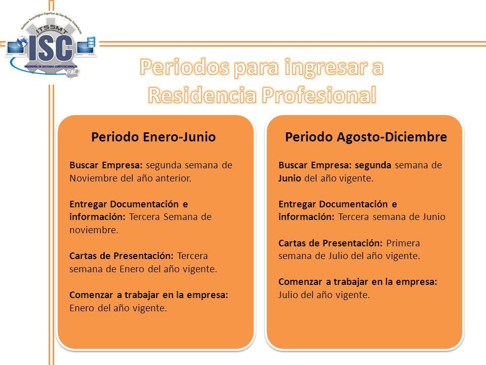Periodo Enero-JunioPeriodo Agosto-Diciembre Buscar Empresa: segunda semana de Noviembre del año anterior.