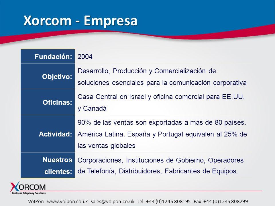 VoIPon www.voipon.co.uk sales@voipon.co.uk Tel: +44 (0)1245 808195 Fax: +44 (0)1245 808299 Complete Concierge preguntas frecuentes http://www.xorcom.com/products/complete- concierge-frequently-asked-questions.html