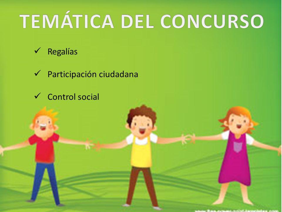 Regalías Participación ciudadana Control social