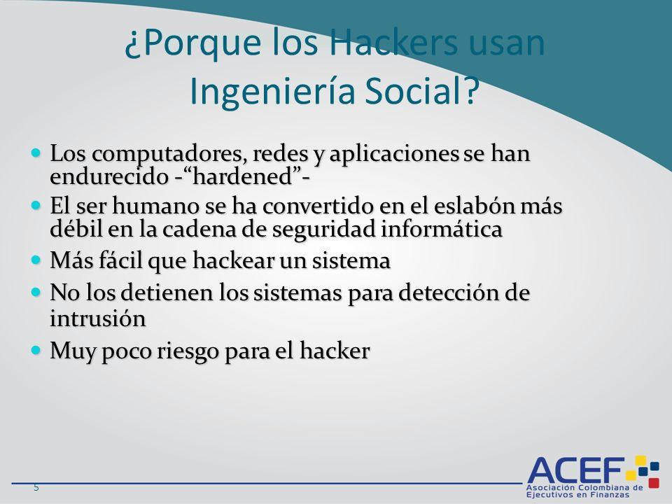 ¿Porque los Hackers usan Ingeniería Social.