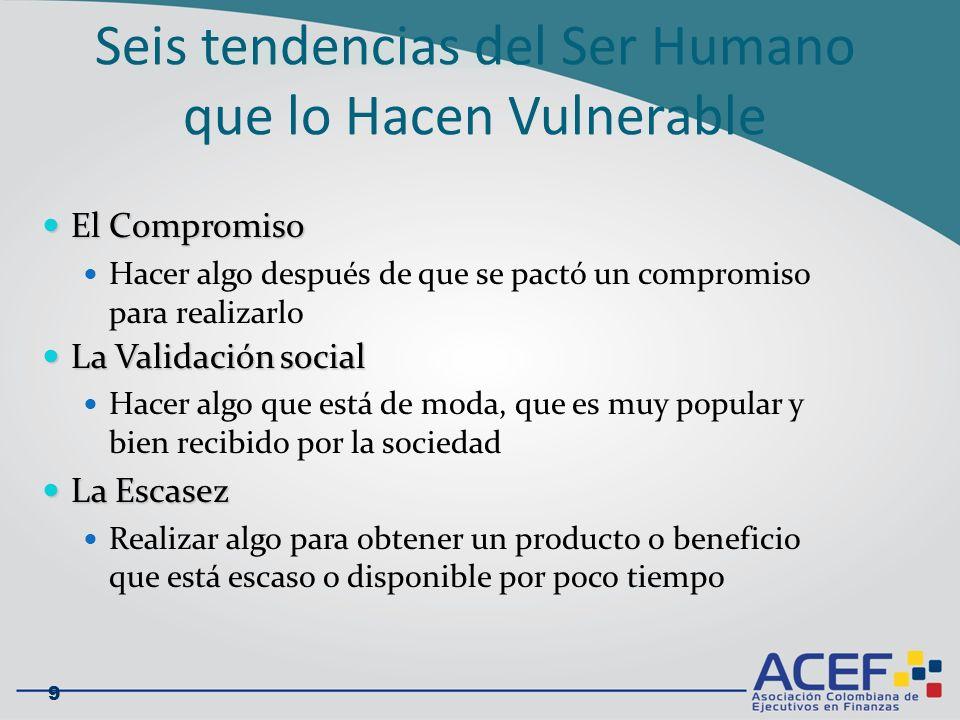El Firewall Humano La ilusión de la invulnerabilidad (eso nunca me va a pasar a mi) La ilusión de la invulnerabilidad (eso nunca me va a pasar a mi) La tendencia frecuente de confiar en terceros (el beneficio de la duda) La tendencia frecuente de confiar en terceros (el beneficio de la duda) La pereza de aplicar los protocolos de seguridad La pereza de aplicar los protocolos de seguridad La subestimación del valor de la información La subestimación del valor de la información La naturaleza de ayudar a los demás La naturaleza de ayudar a los demás No entender cuales son las consecuencias de algunas acciones No entender cuales son las consecuencias de algunas acciones 10