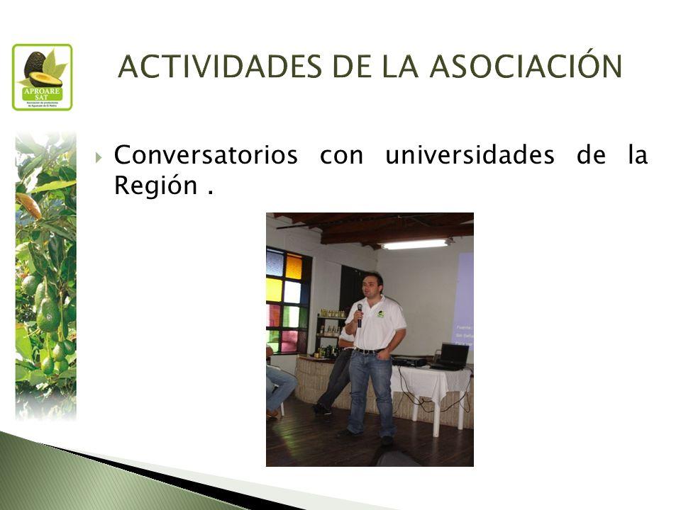 Conversatorios con universidades de la Región.