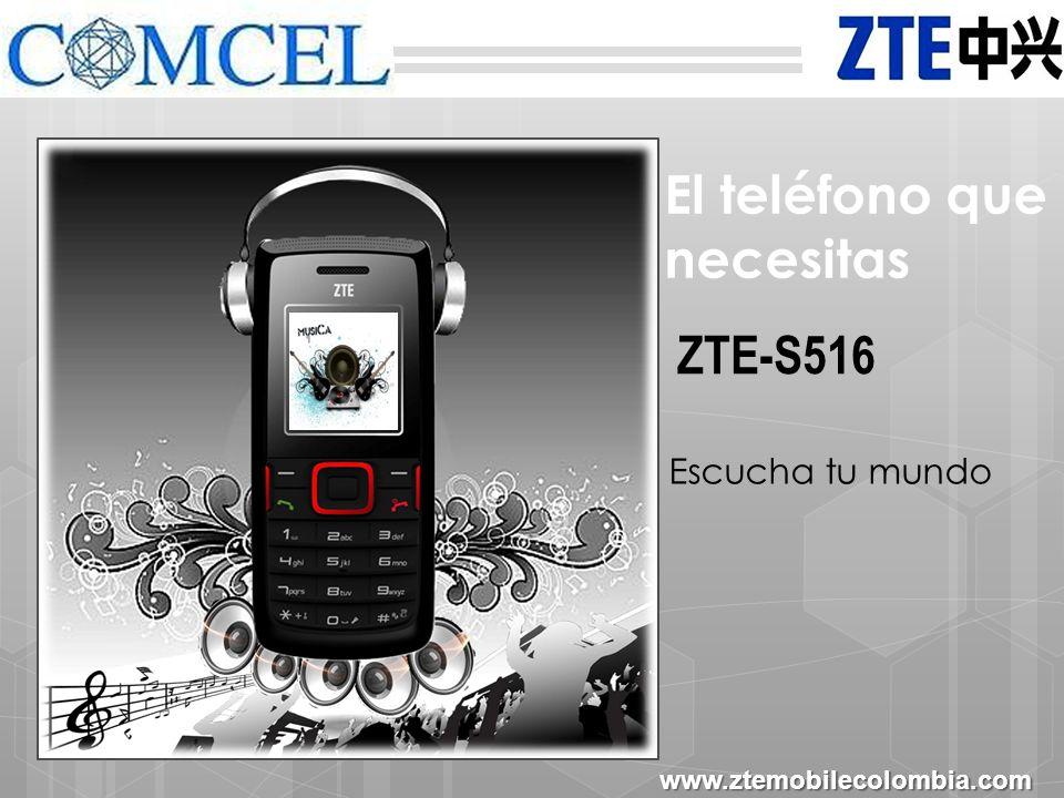 Comunícate con todos con tu ZTE-S516 www.ztemobilecolombia.com