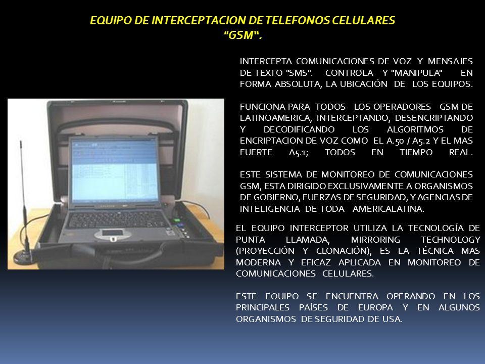 INTERCEPTA COMUNICACIONES DE VOZ Y MENSAJES DE TEXTO