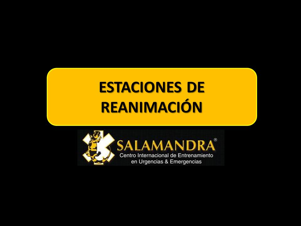 ESTACIONES DE REANIMACIÓN