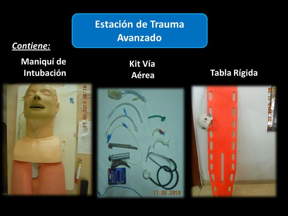 Estación de Trauma Avanzado Contiene: Kit Vía Aérea Maniquí de Intubación Tabla Rígida