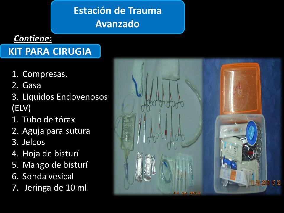 Estación de Trauma Avanzado Contiene: KIT PARA CIRUGIA 1.Compresas.