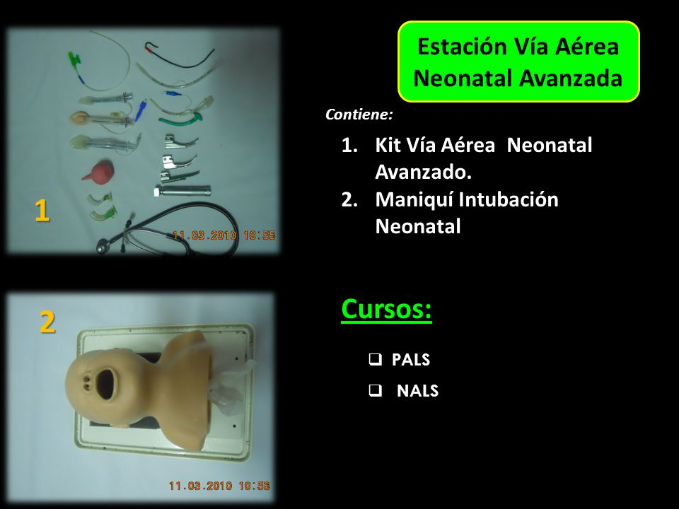 Estación Vía Aérea Neonatal Avanzada Contiene: 1.Kit Vía Aérea Neonatal Avanzado.