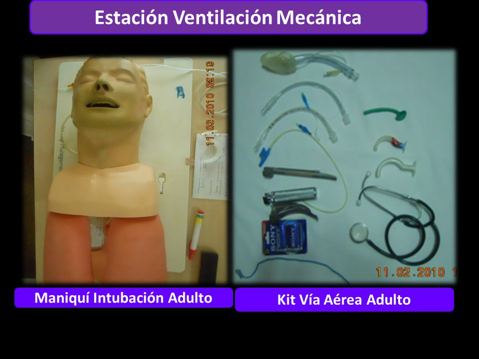 Estación Ventilación Mecánica Maniquí Intubación Adulto Kit Vía Aérea Adulto