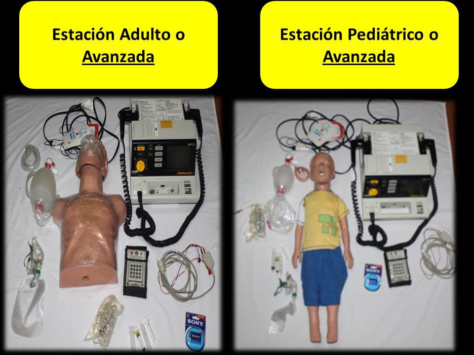Estación Adulto Estación Adulto o Avanzada 1 2 1 4 3 6 10 9 Estación Pediátrico o Avanzada