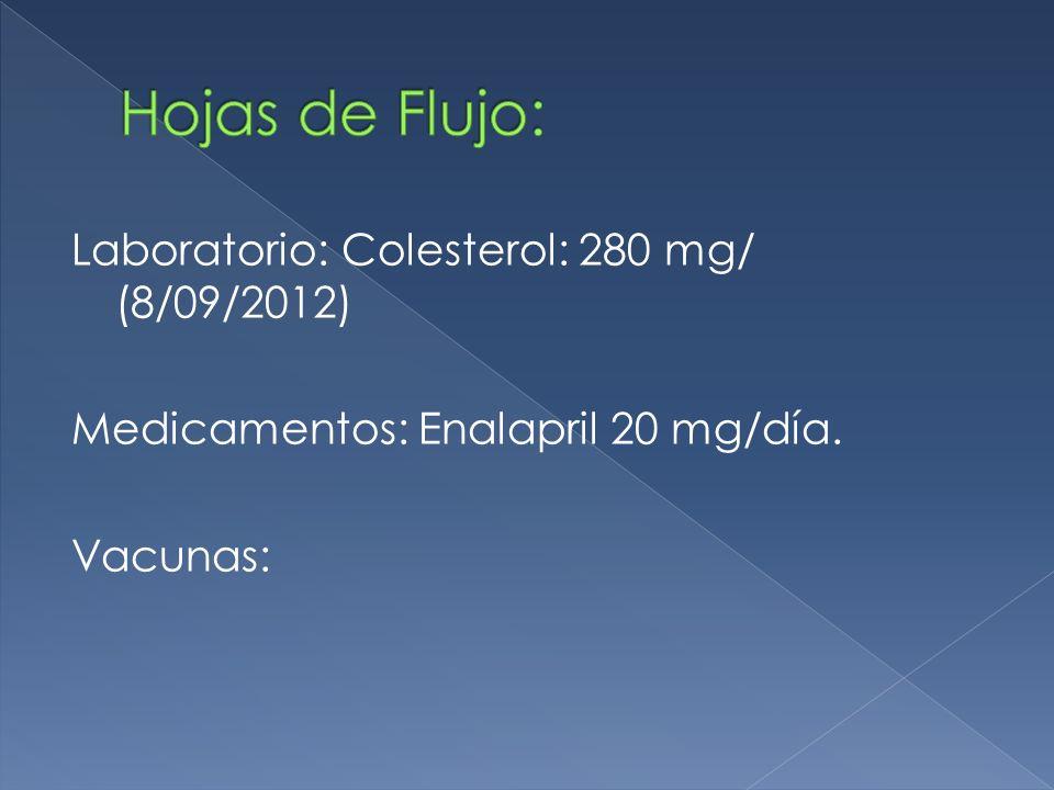 S: Control Salud.Hipertenso medicado. Tabaquista 1 atado/día.