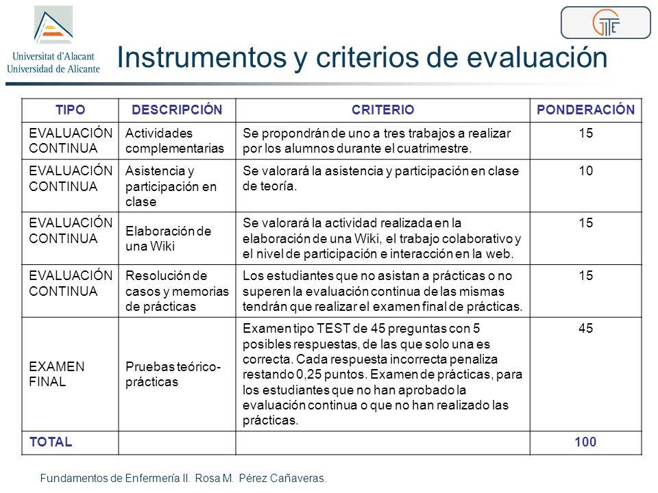 Instrumentos y criterios de evaluación TIPODESCRIPCIÓNCRITERIOPONDERACIÓN EVALUACIÓN CONTINUA Actividades complementarias Se propondrán de uno a tres