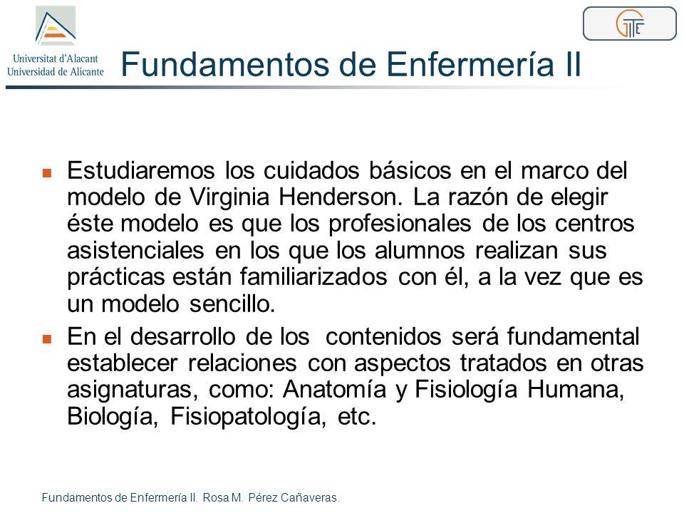 Objetivos teoría (1) Al finalizar los contenidos de los créditos teóricos el estudiante conocerá los fundamentos del modelo de cuidados de V.