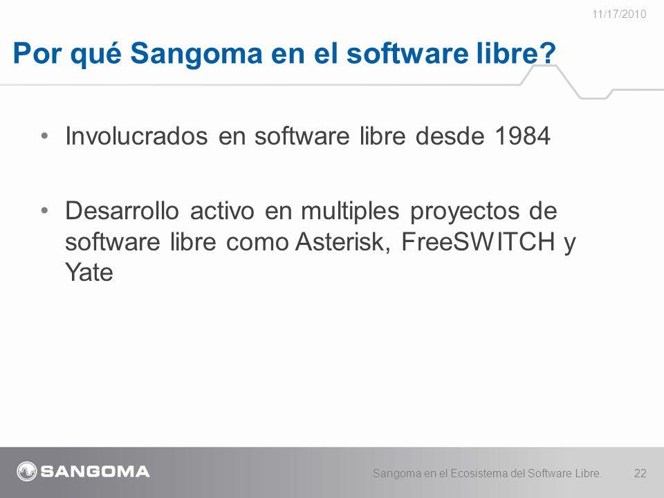 Por qué Sangoma en el software libre.