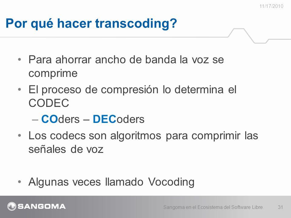 Por qué hacer transcoding.