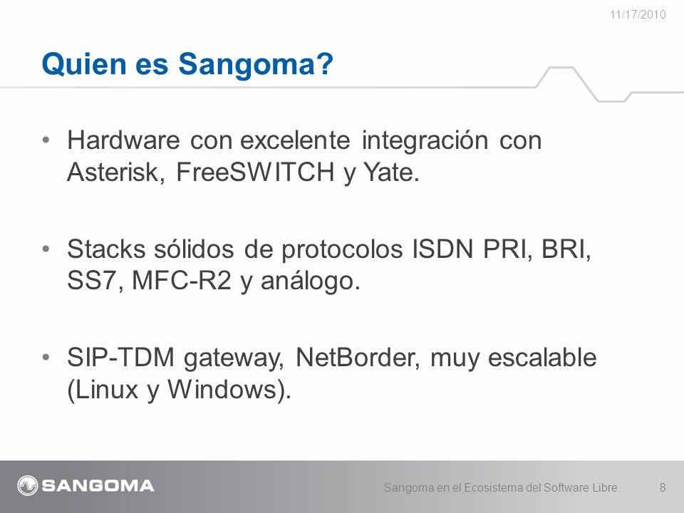 Hardware con excelente integración con Asterisk, FreeSWITCH y Yate.