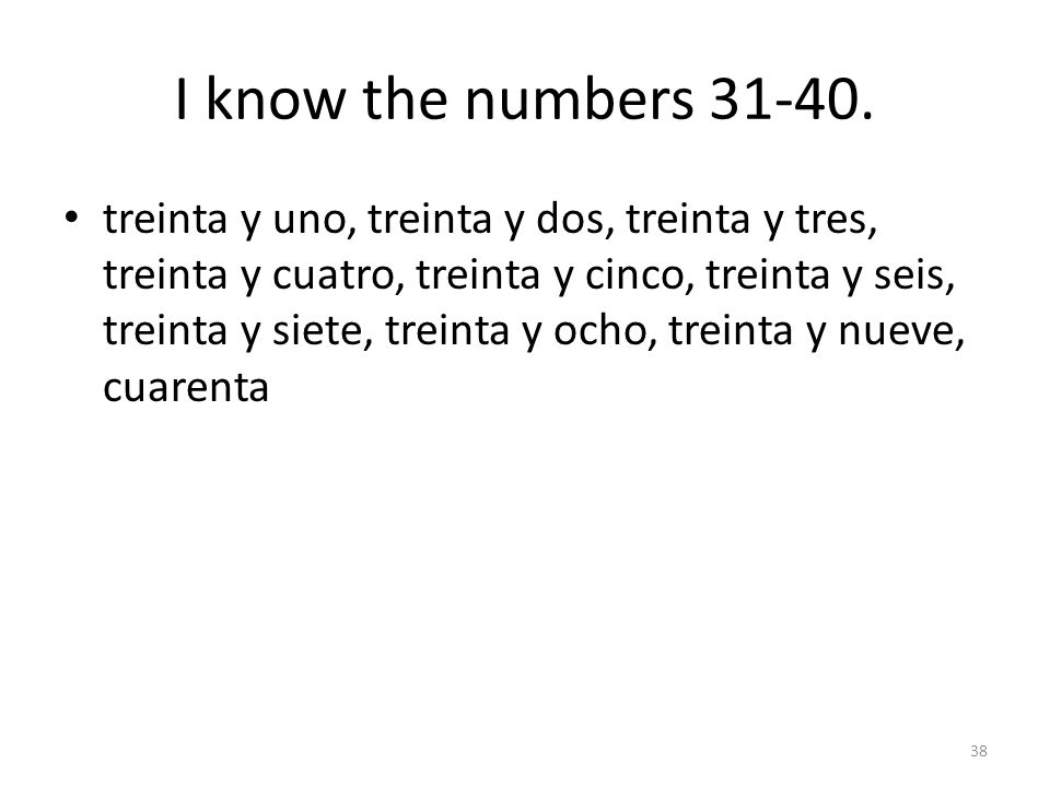 I know the numbers 21-30.