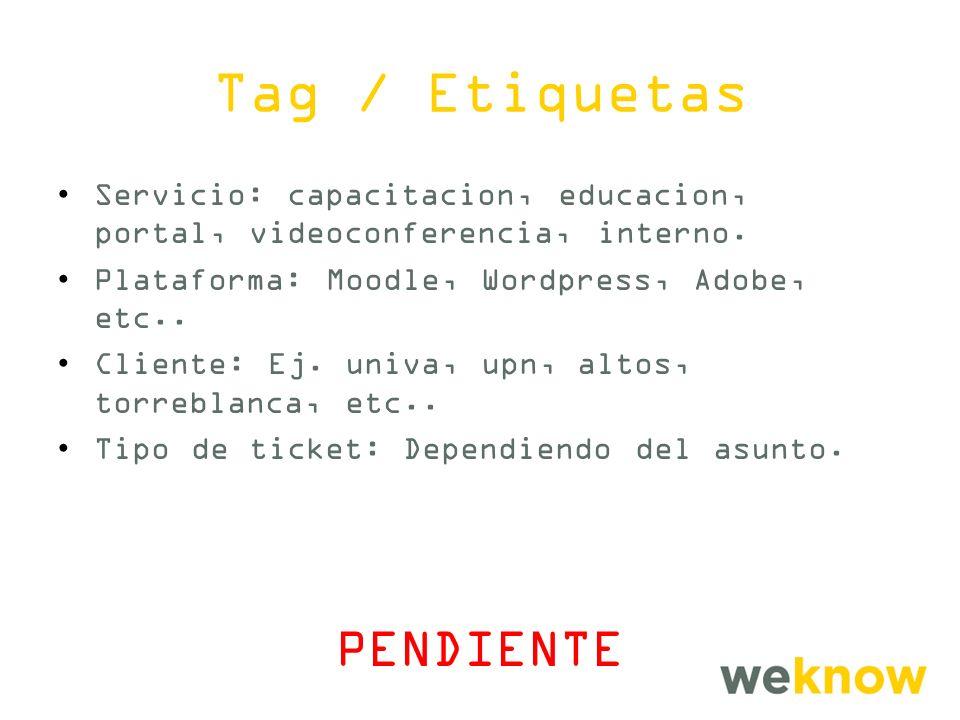 Tag / Etiquetas Servicio: capacitacion, educacion, portal, videoconferencia, interno.