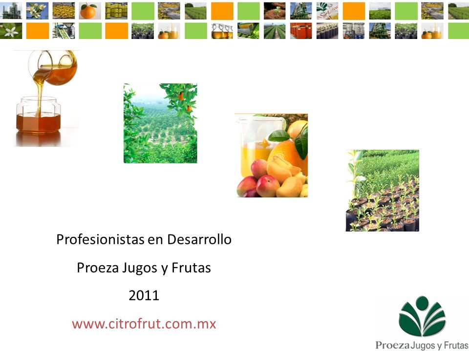 Profesionistas en Desarrollo Proeza Jugos y Frutas 2011 www.citrofrut.com.mx