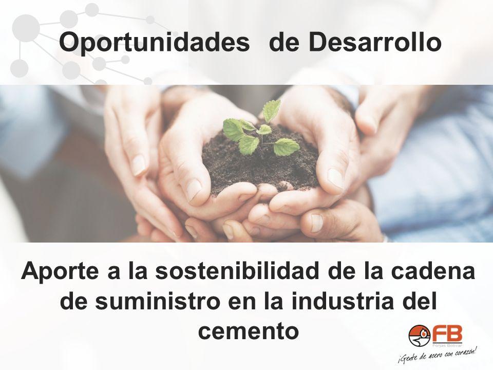 Aporte a la sostenibilidad de la cadena de suministro en la industria del cemento Oportunidades de Desarrollo