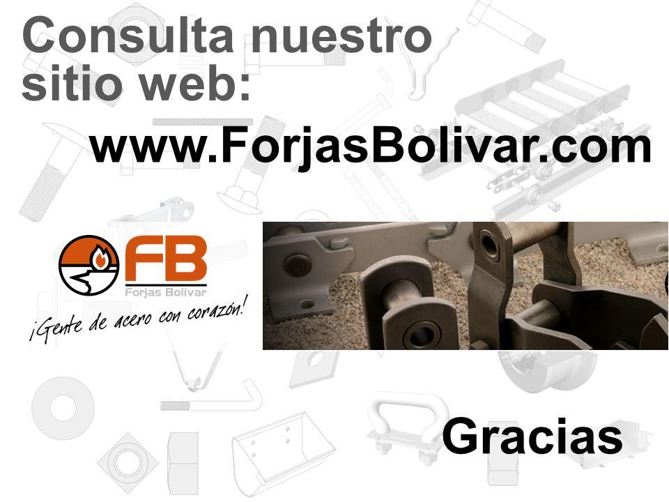 Consulta nuestro sitio web: www.ForjasBolivar.com Gracias