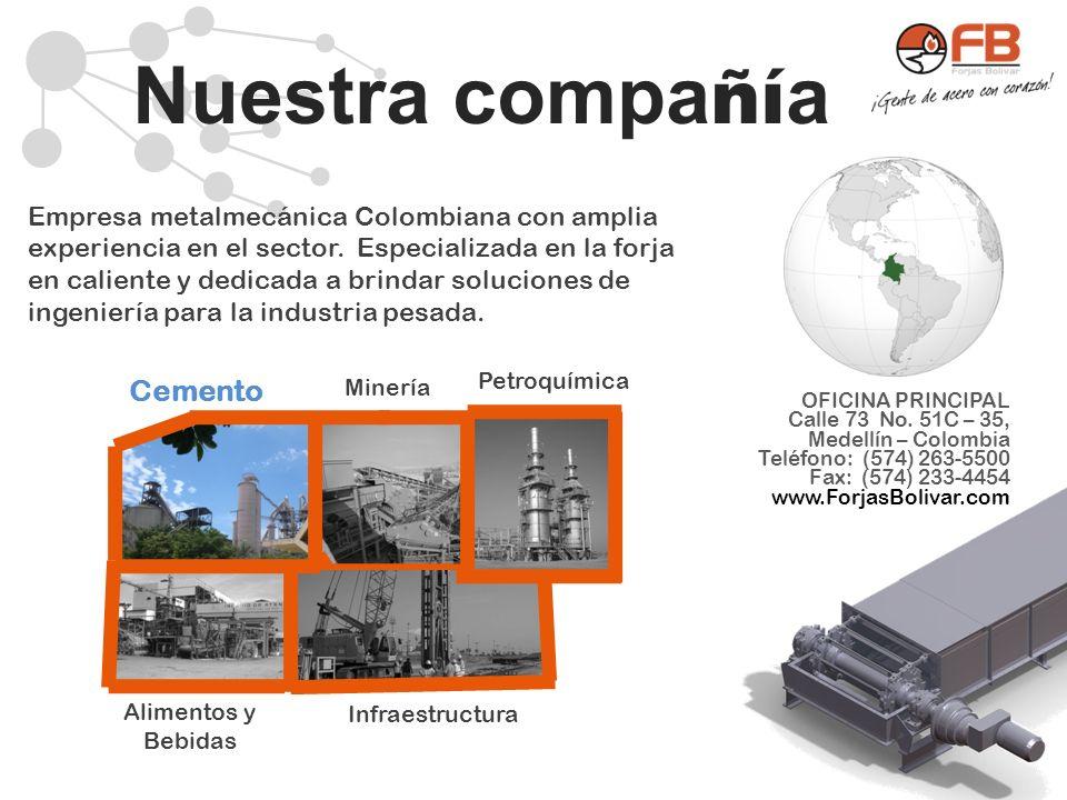 Nuestra compa ñí a Empresa metalmecánica Colombiana con amplia experiencia en el sector. Especializada en la forja en caliente y dedicada a brindar so