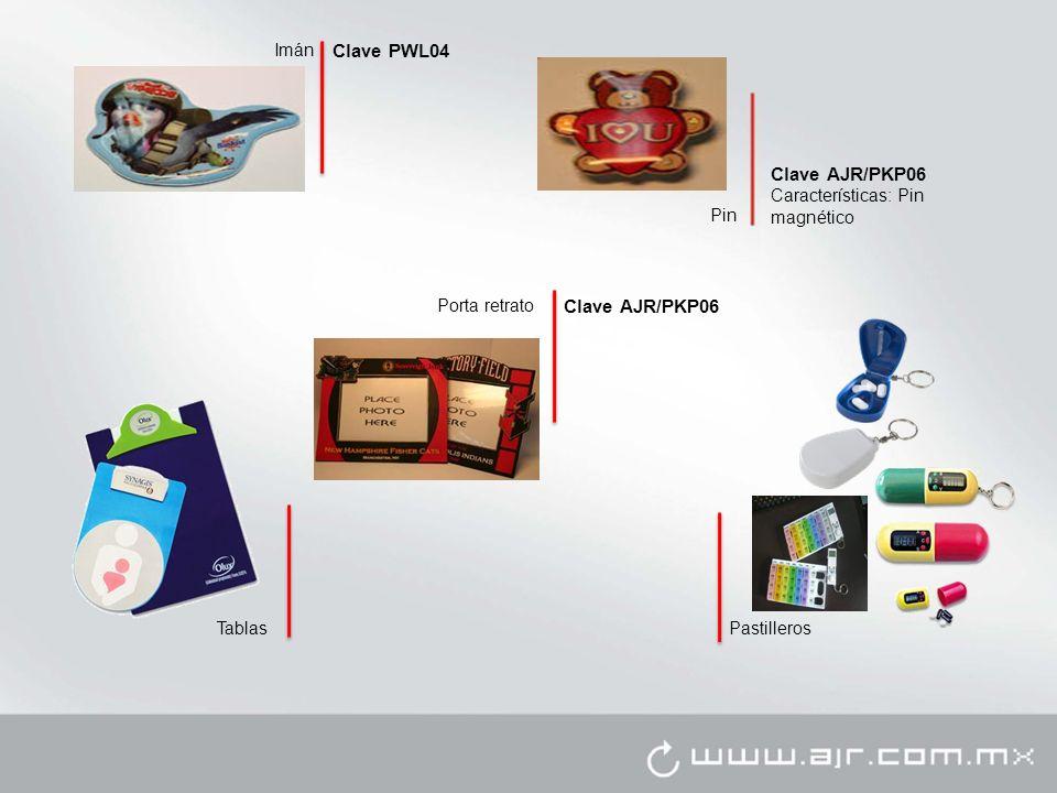 Porta retrato Imán Clave PWL04 Pin Clave AJR/PKP06 Características: Pin magnético TablasPastilleros