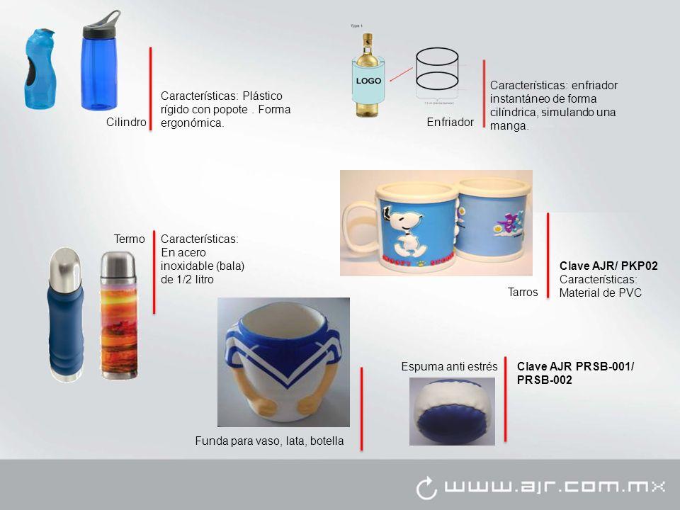 Cilindro Características: Plástico rígido con popote.