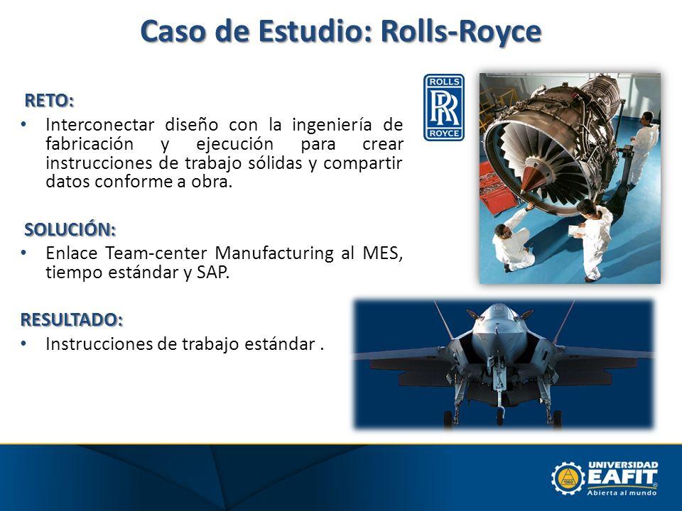 Caso de Estudio: Rolls-Royce RETO: Interconectar diseño con la ingeniería de fabricación y ejecución para crear instrucciones de trabajo sólidas y com