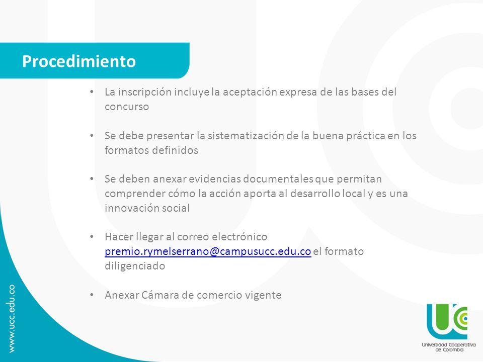 Requisitos para la participación Para la Categoría Estudiantes La convocatoria está abierta para estudiantes activos con carnet vigente de la Universidad Cooperativa de Colombia a nivel nacional.