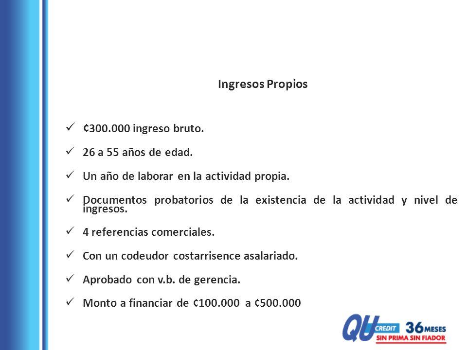 Asalariados Costarricenses ¢200.000 salario bruto.