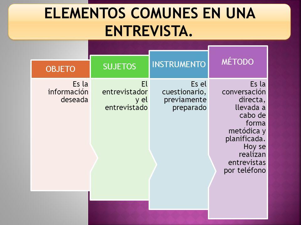 CLASES DE ENTREVISTAS