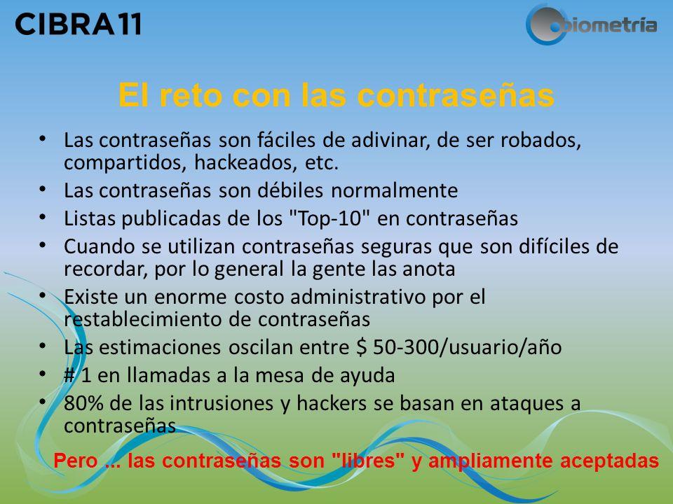 El reto con las contraseñas Las contraseñas son fáciles de adivinar, de ser robados, compartidos, hackeados, etc.