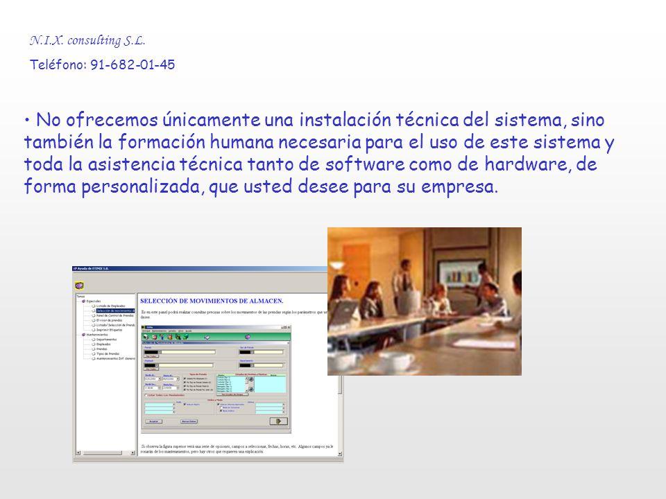 Presentación breve de la aplicación EtiniX 1.0. N.I.X. consulting S.L. Teléfono: 91-682-01-45