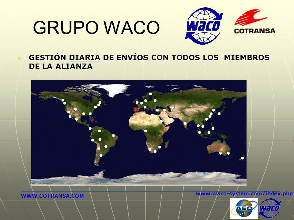 GRUPO WACO GESTIÓN DIARIA DE ENVÍOS CON TODOS LOS MIEMBROS DE LA ALIANZA GESTIÓN DIARIA DE ENVÍOS CON TODOS LOS MIEMBROS DE LA ALIANZA www.waco-system