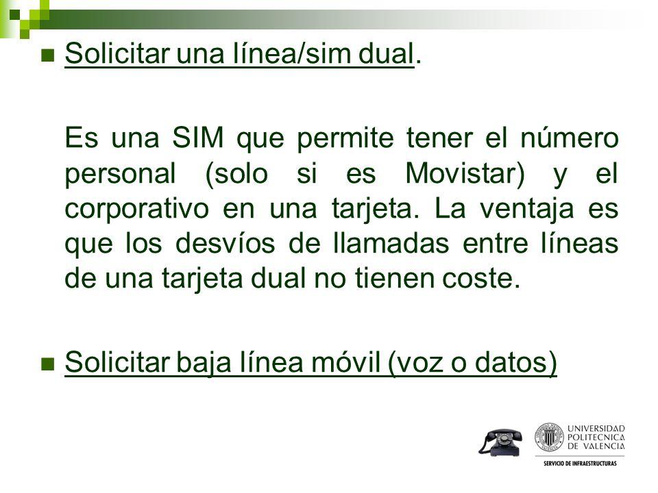 Solicitar una línea/sim dual. Es una SIM que permite tener el número personal (solo si es Movistar) y el corporativo en una tarjeta. La ventaja es que