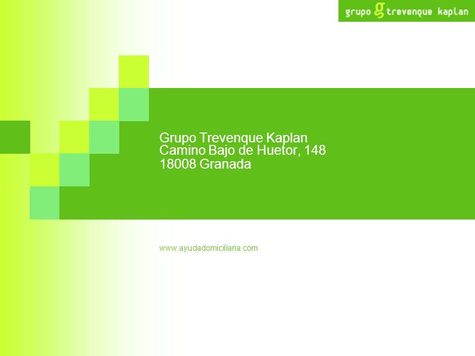 Grupo Trevenque Kaplan Camino Bajo de Huetor, 148 18008 Granada www.ayudadomiciliaria.com