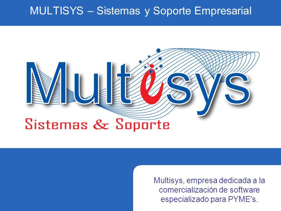 MULTISYS – Sistemas y Soporte Empresarial Multisys, empresa dedicada a la comercialización de software especializado para PYME s.
