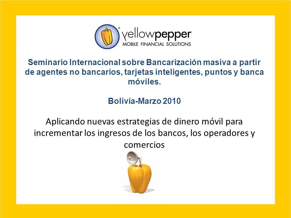 Seminario Internacional sobre Bancarización masiva a partir de agentes no bancarios, tarjetas inteligentes, puntos y banca móviles. Bolivia-Marzo 2010