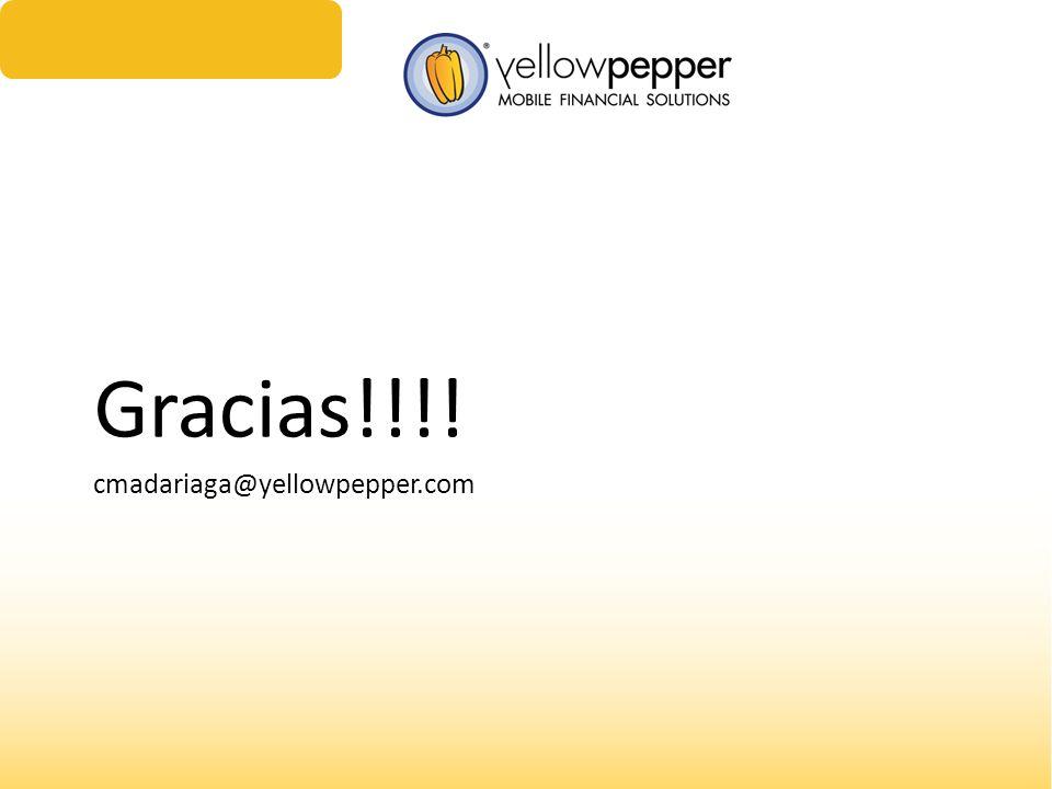 Gracias!!!! cmadariaga@yellowpepper.com