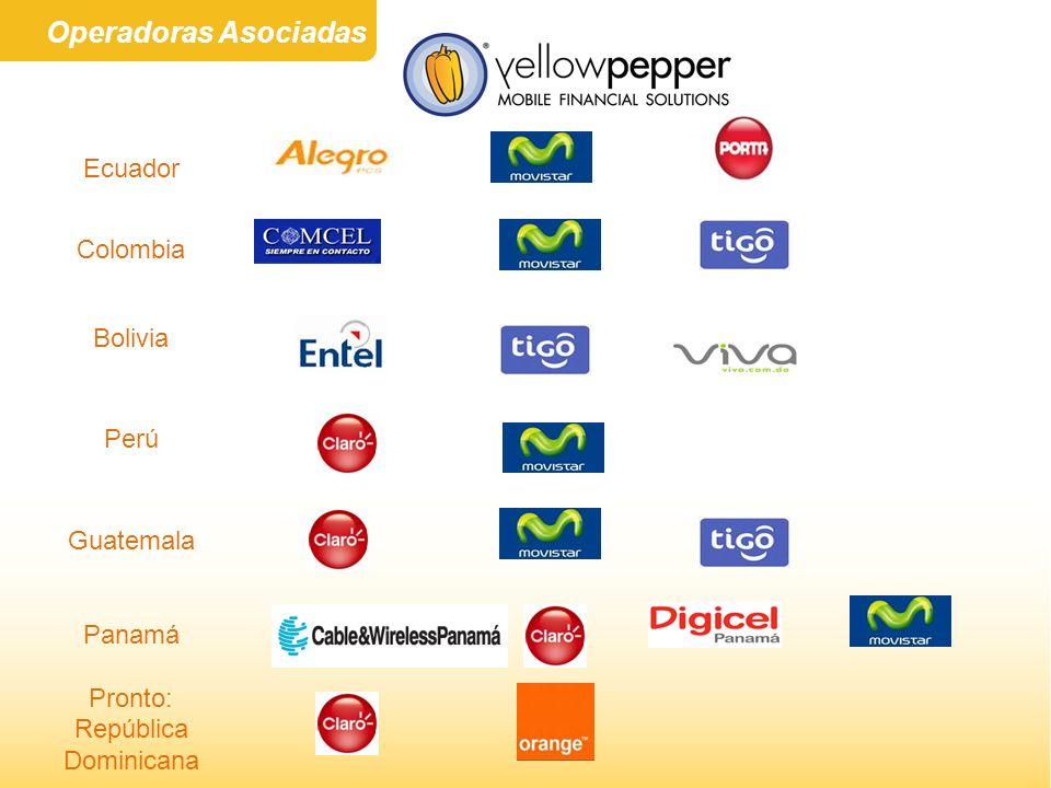 Ecuador Colombia Bolivia Perú Guatemala Panamá Pronto: República Dominicana Operadoras Asociadas