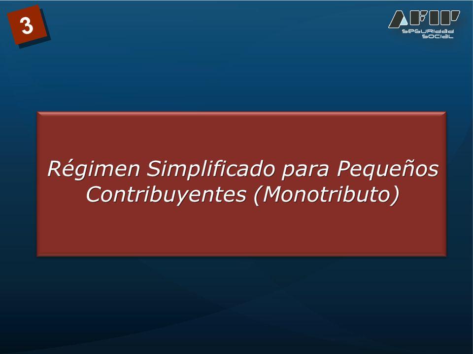 Régimen Simplificado para Pequeños Contribuyentes (Monotributo) 3