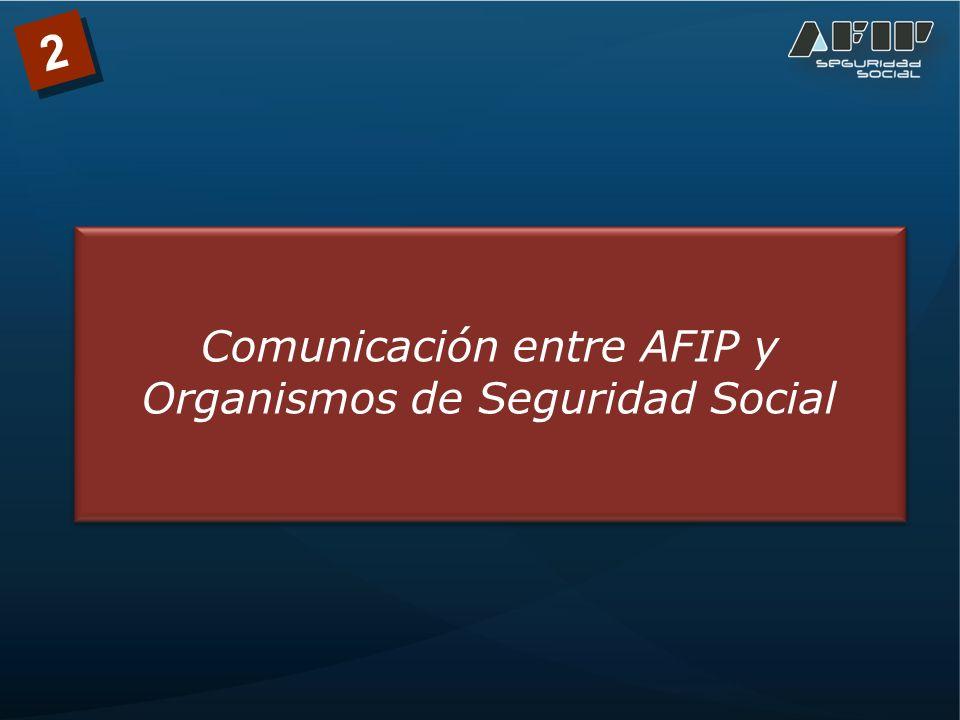 Comunicación entre AFIP y Organismos de Seguridad Social 2