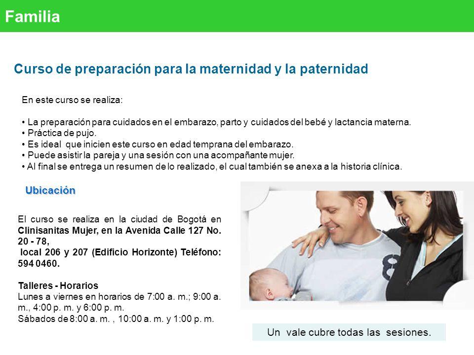 Curso de preparación para la maternidad y la paternidad FamiliaUbicación En este curso se realiza: La preparación para cuidados en el embarazo, parto y cuidados del bebé y lactancia materna.