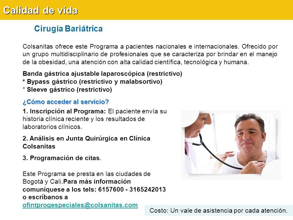 Cirugía Bariátrica Calidad de vida Colsanitas ofrece este Programa a pacientes nacionales e internacionales.